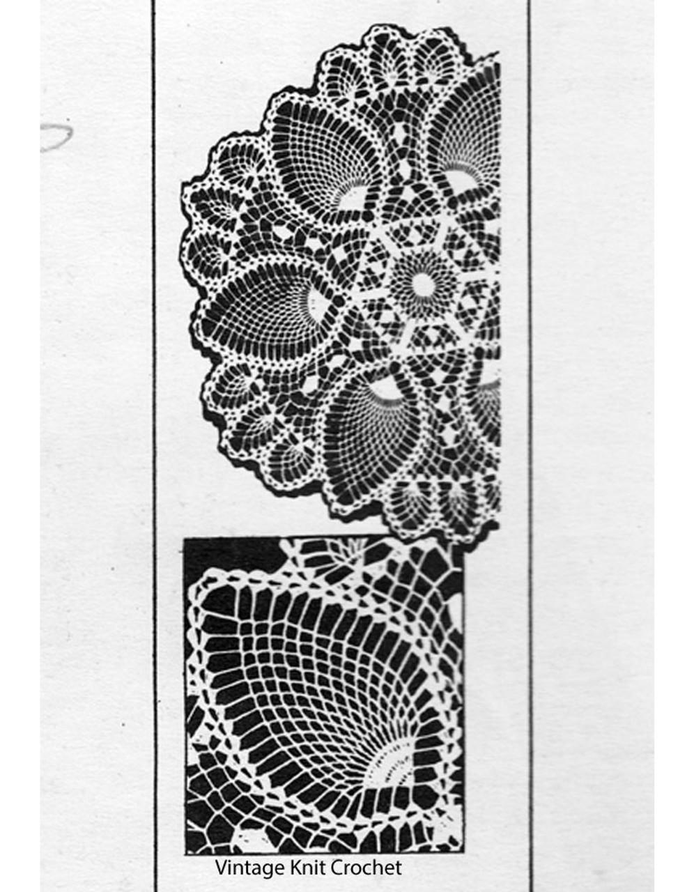 Mail Order Pineapple Crochet Doily, Laura Wheeler 698