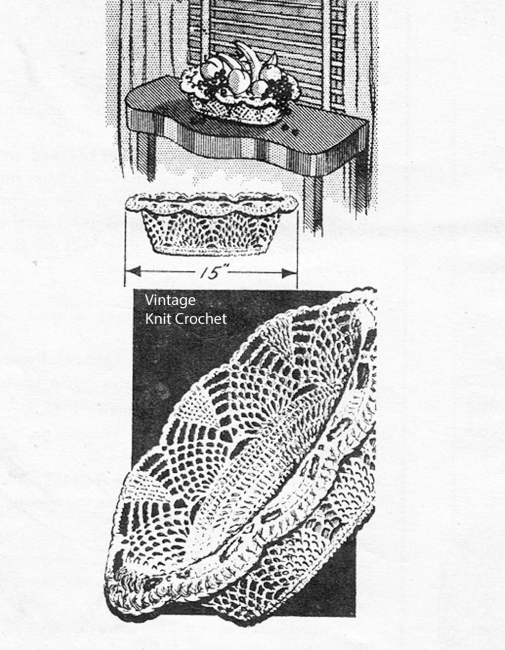Mail Order Crochet Basket Pattern Design 798