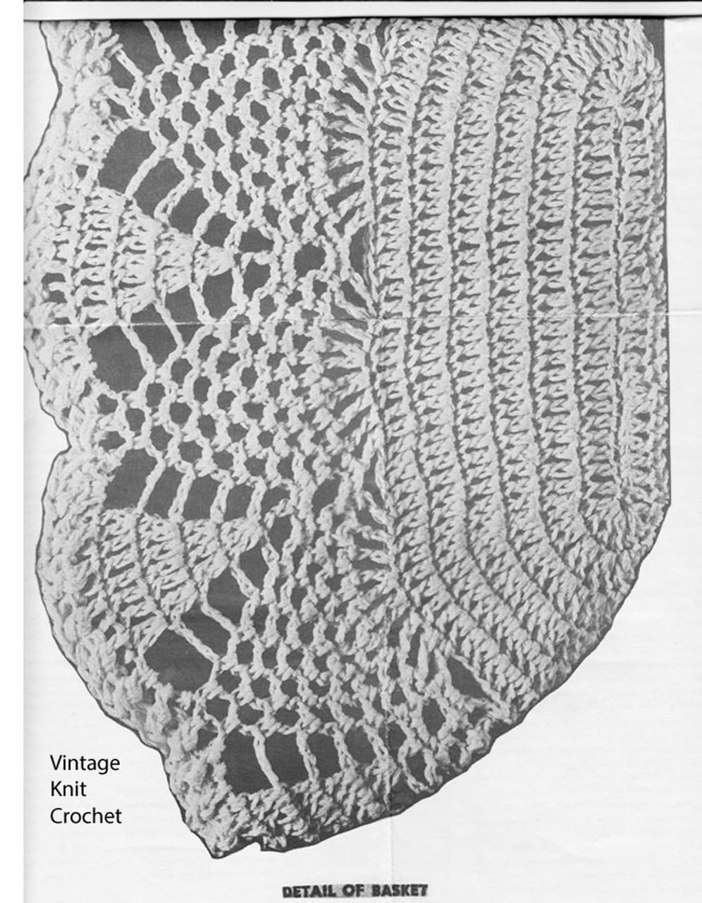 Oblong Crochet Basket Pattern Detail, Laura wheeler 798