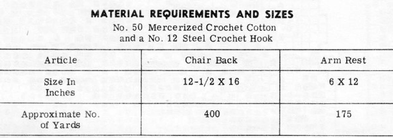 Filet Pansy Rose Chair Doily Pattern, Design 7169