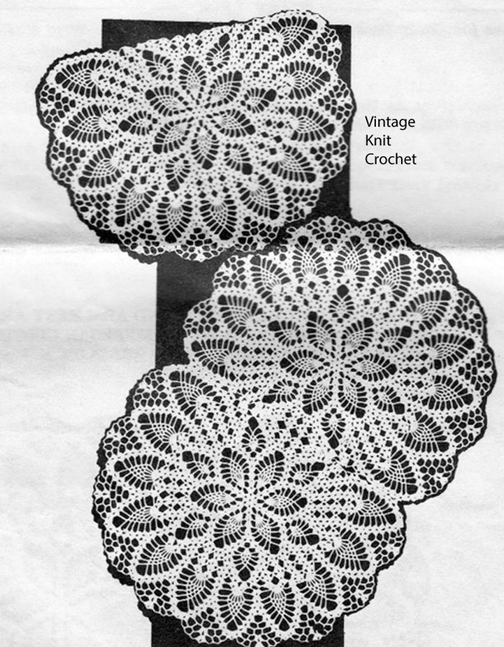 Mail Order Chair Doily Pattern, No 687