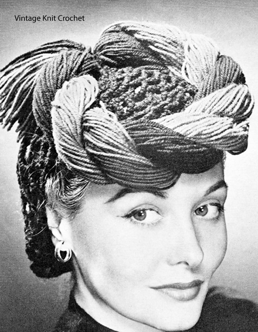 Twisted Braid Crochet Hat Pattern No 146