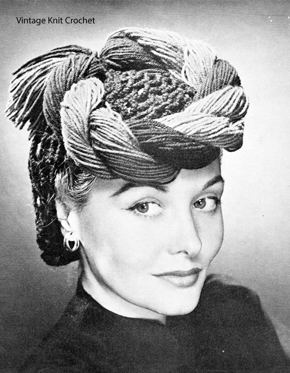 Crochet Snood Pattern, Braided hat