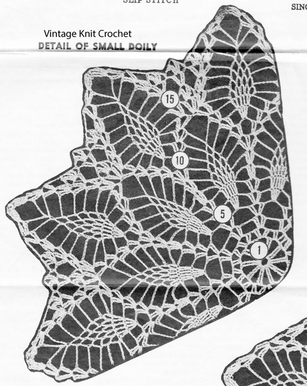 Small pineapple doily illustration, Mail Order 619