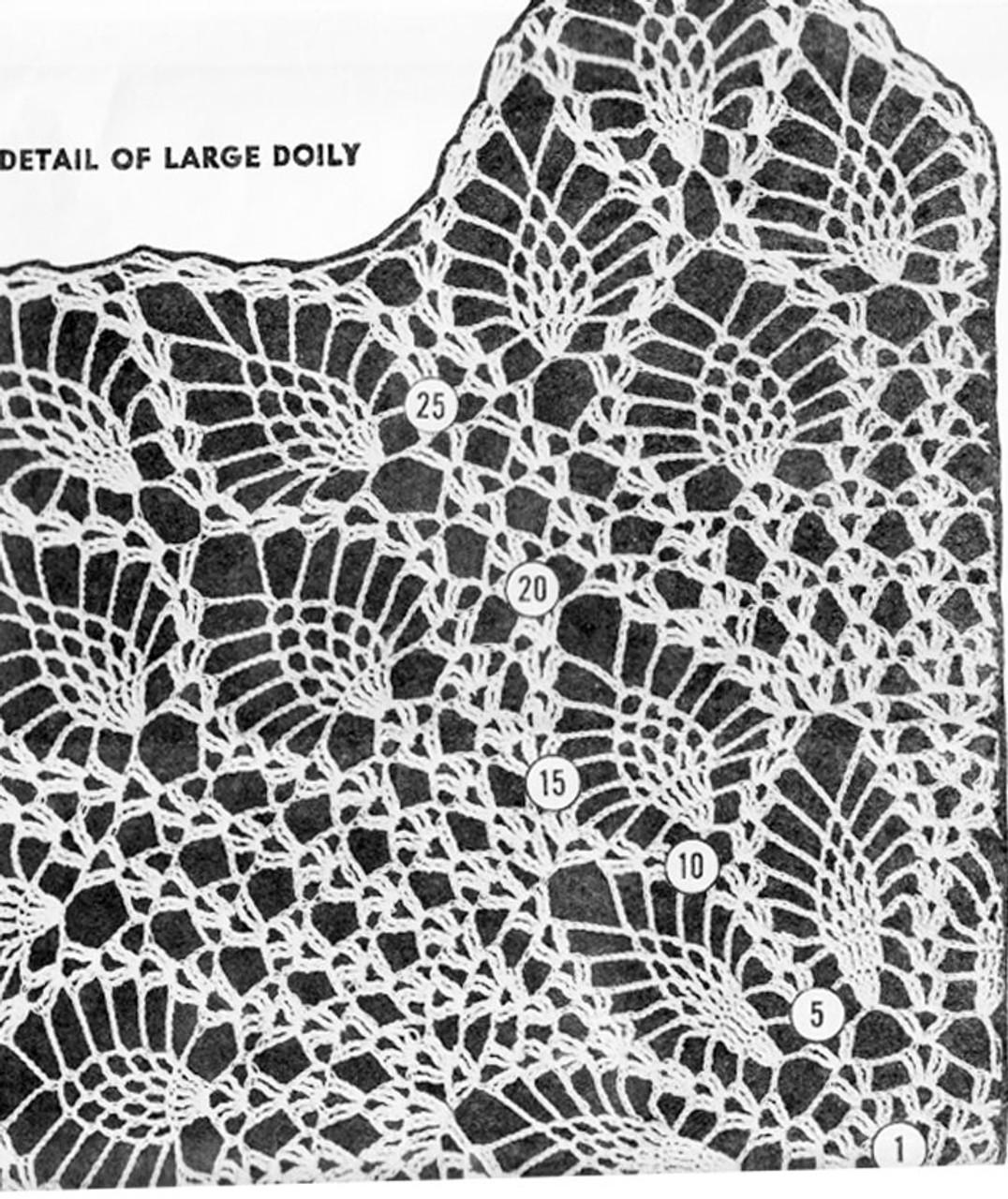 Centerpiece Doily Pattern Illustration, Design 619