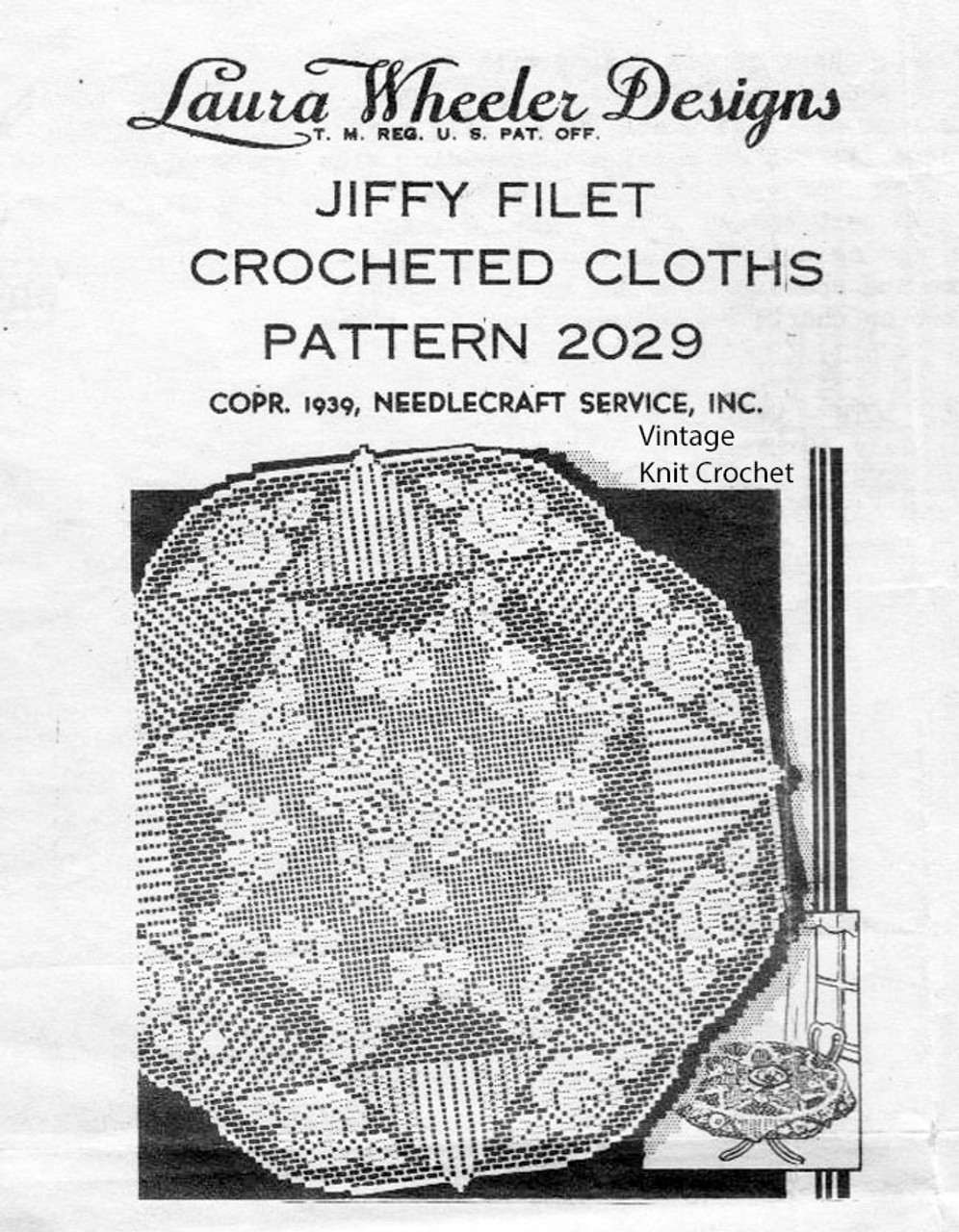 Filet Crochet Round Tablecloth Pattern Designs 2029