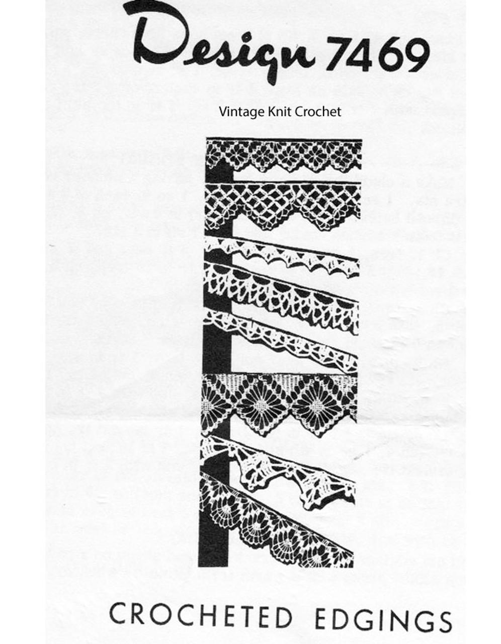 Crochet Dress Edging Pattern, Design 7469