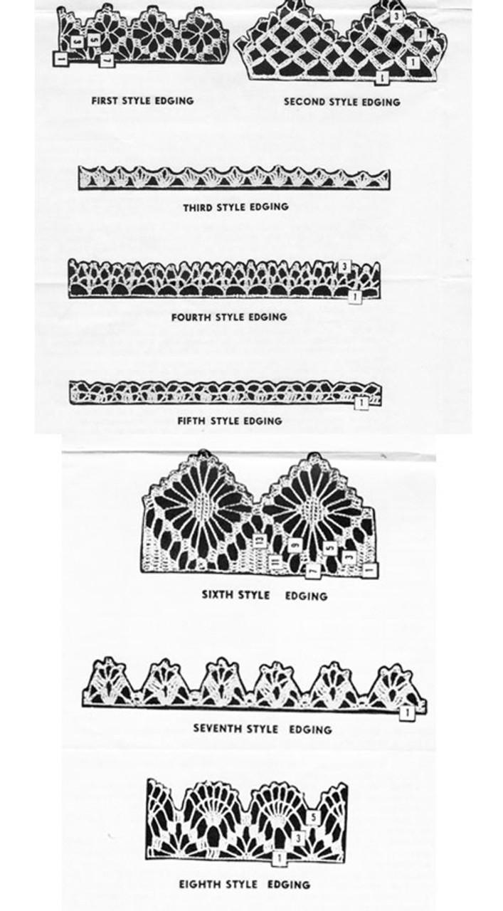 Edging Crochet Pattern Illustrations