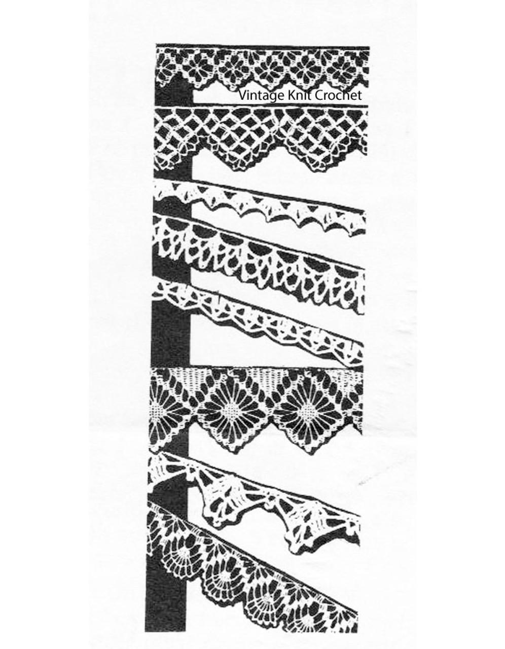 Eight crochet edgings pattern, Alice Brooks 7469
