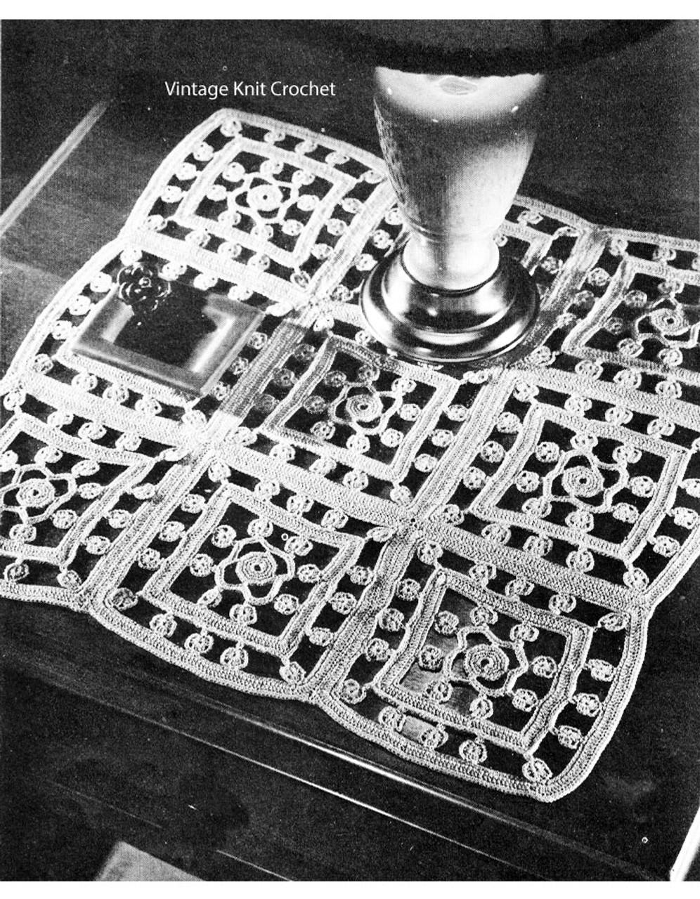 Crochet Square Mat Pattern