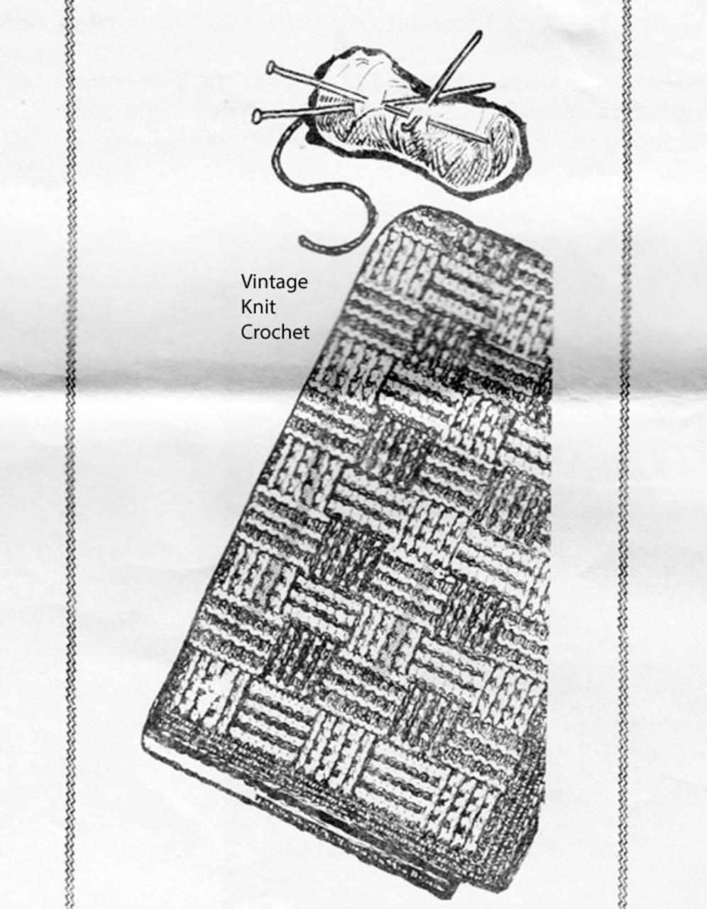 Big Needle Afghan Knitting Pattern, Fringed, Laura Wheeler 829
