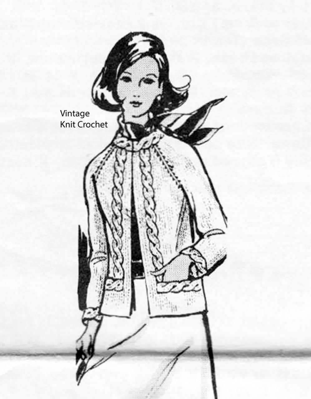 Plus Size Knitted Jacket Pattern, Laura Wheeler 869