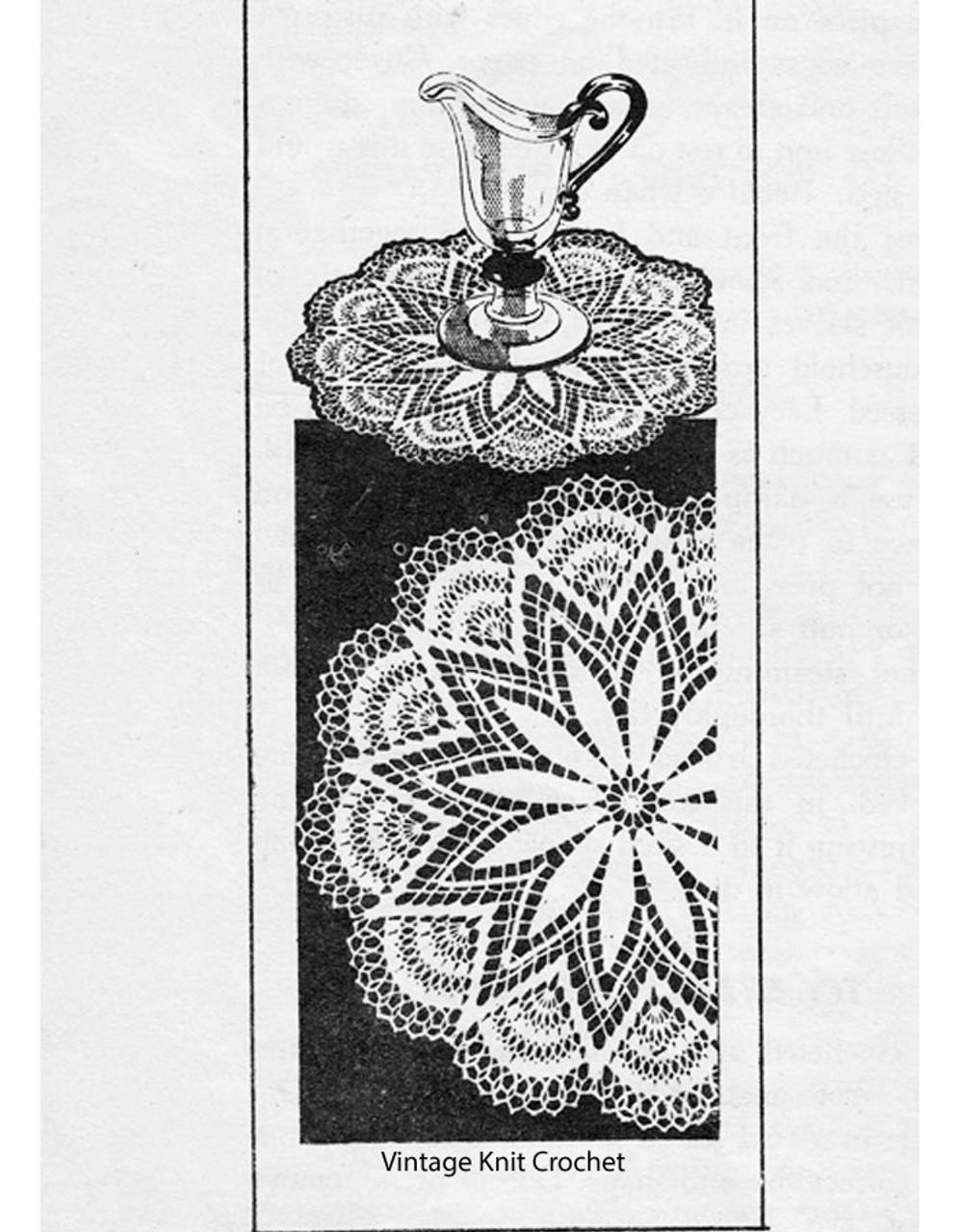 Crochet Star Luncheon Set Pattern, Laura Wheeler 553