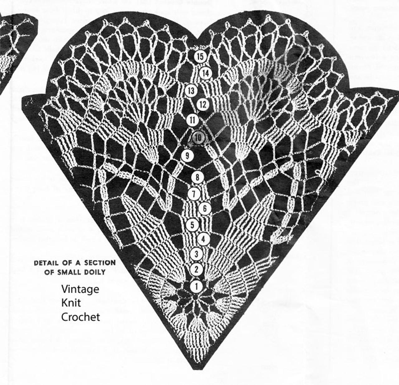 Small Star Doily Pattern Illustration, Mail Order 553