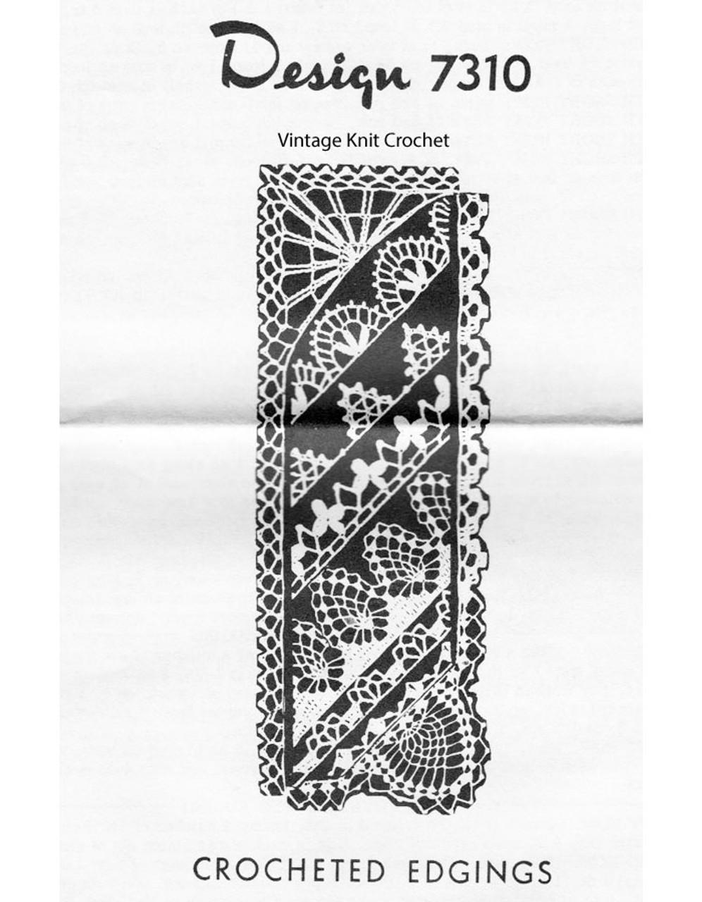 Crocheted Pineapple Edgings Pattern Design 7310
