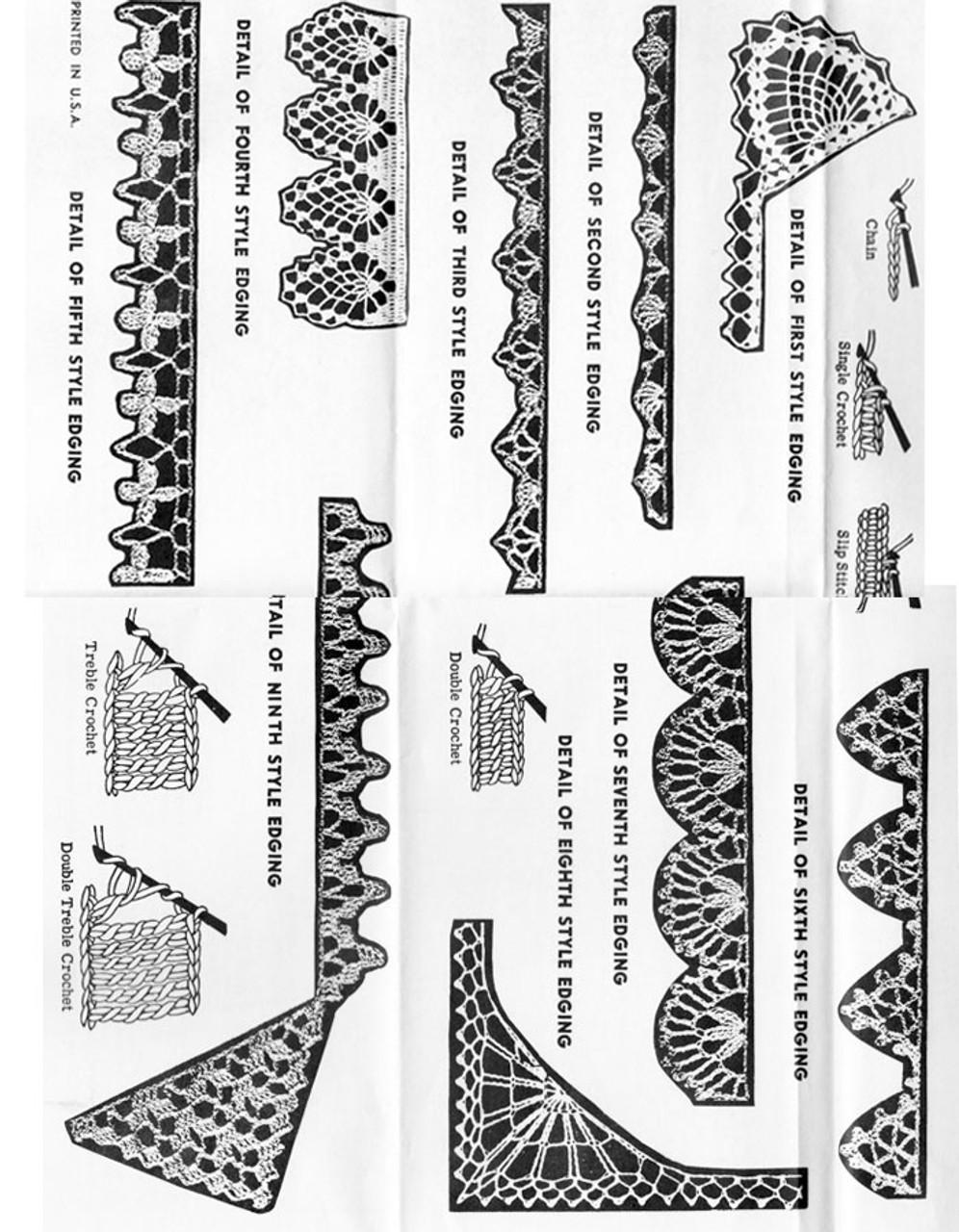 Crochet Corners Edgings Pattern, Alice Brooks 7310
