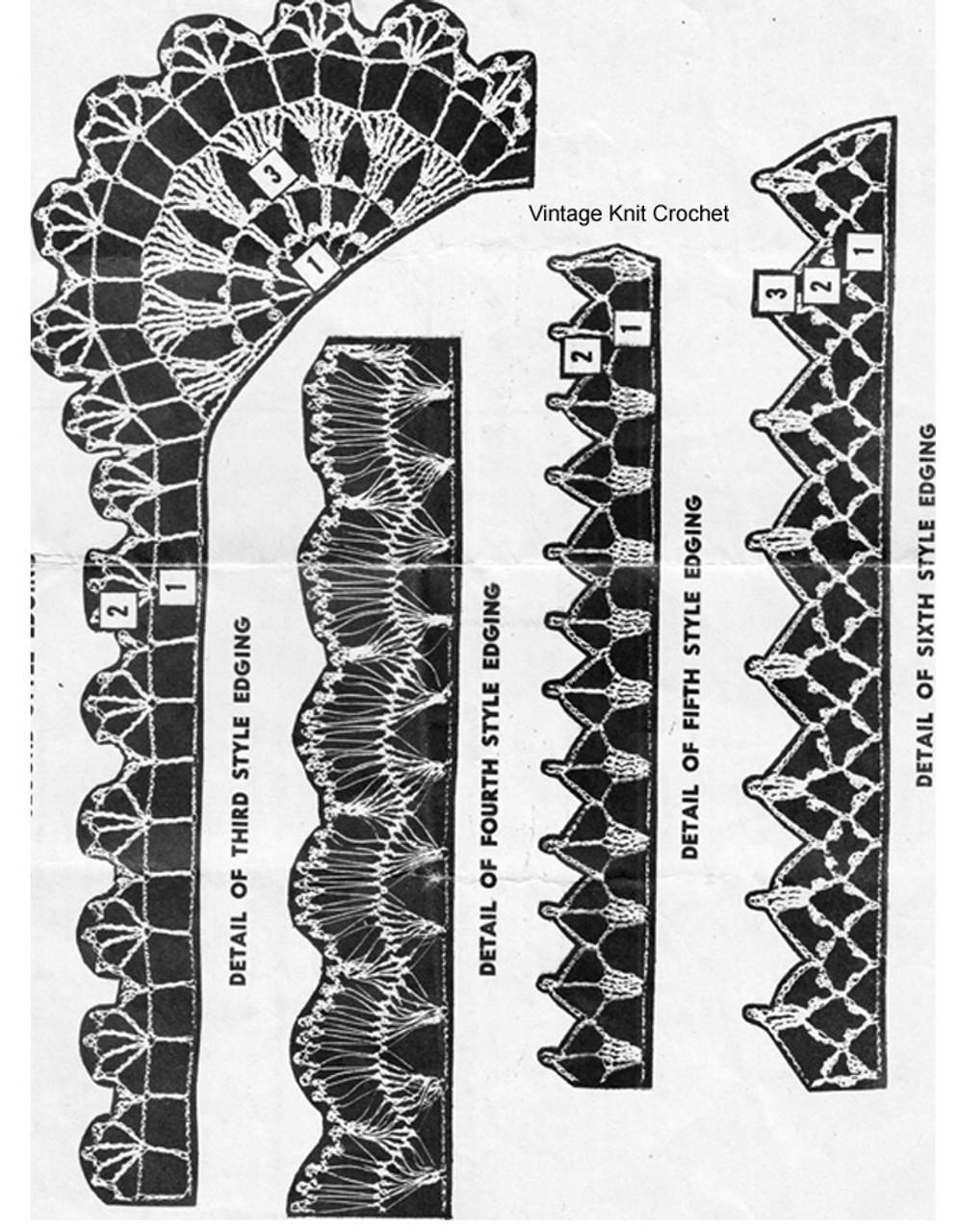 Crochet Edging Pattern Stitch Illustration for Design 3083