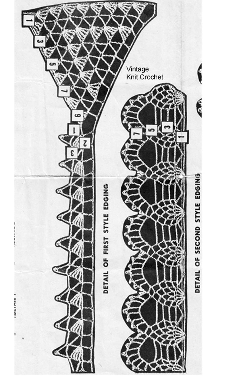 Design 3083 Crochet Edging Pattern Stitch Illustration