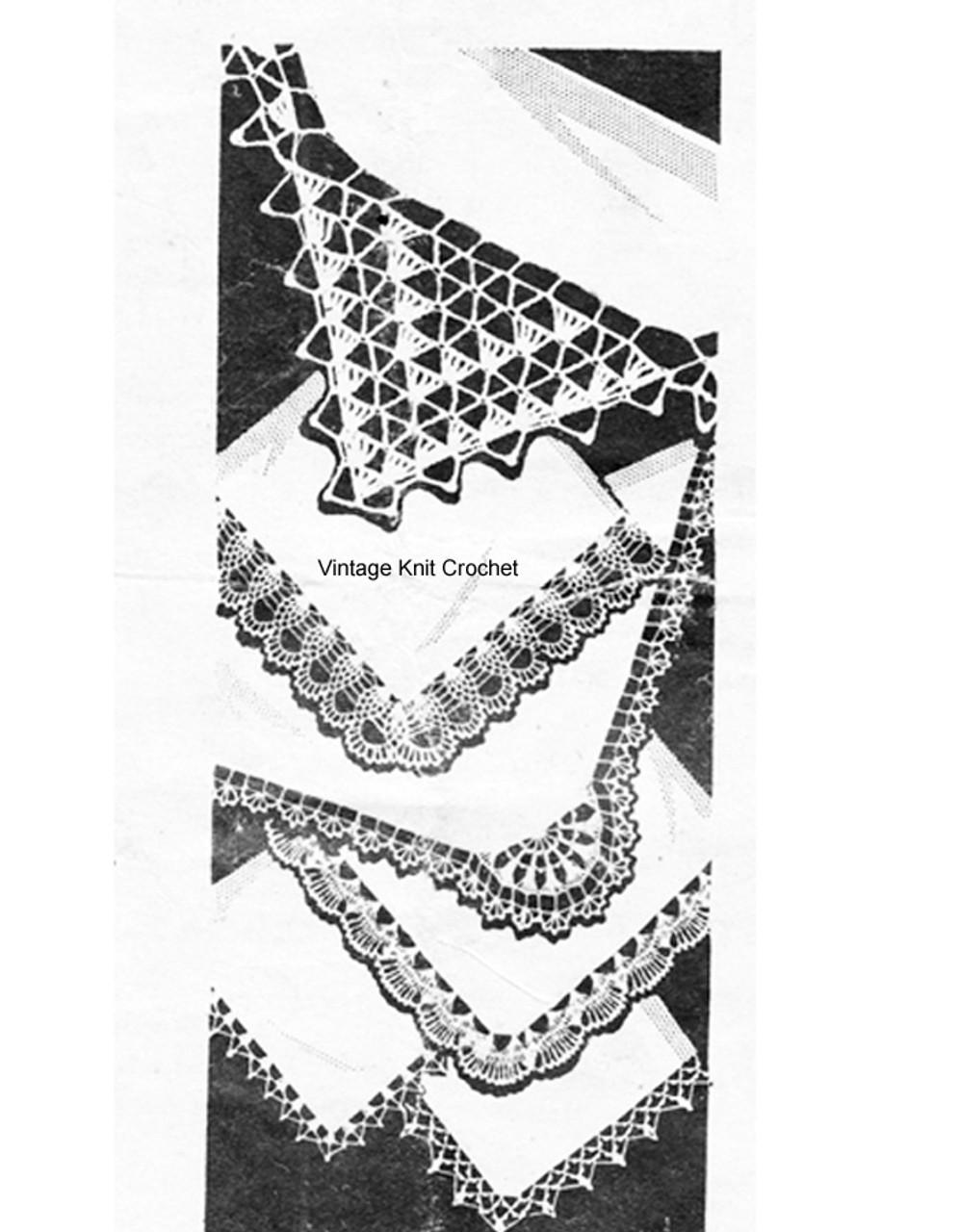 Crochet Handkerchief Edgings Pattern Laura Wheeler 653
