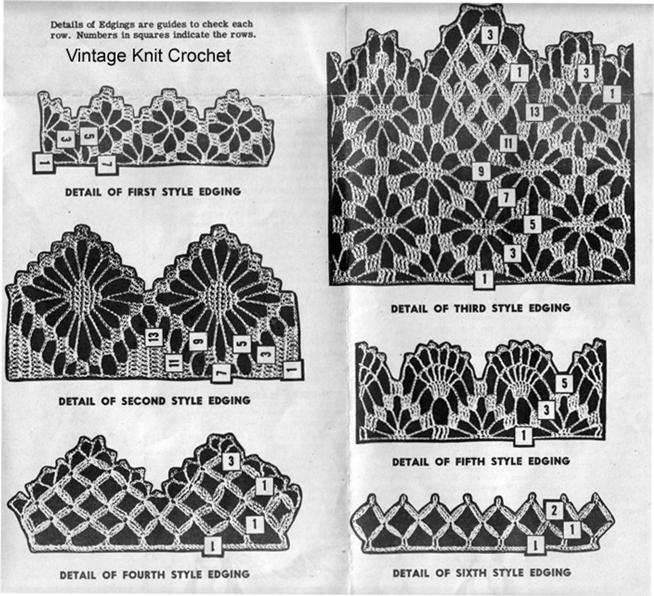 Crochet Edgings Illustration, Mail Order 3091