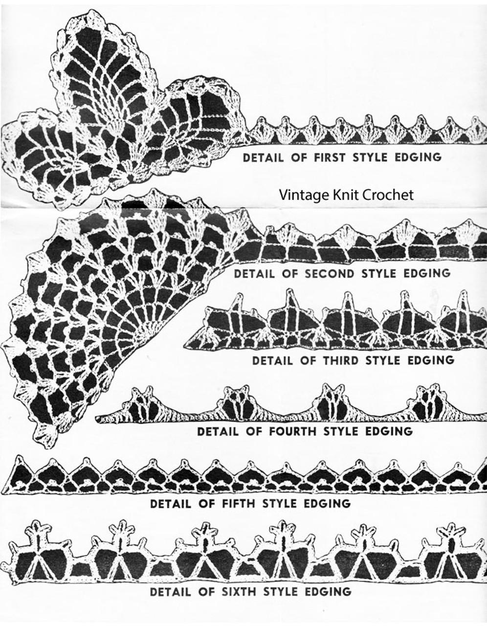 Crochet Edging Corners Pattern No 3119