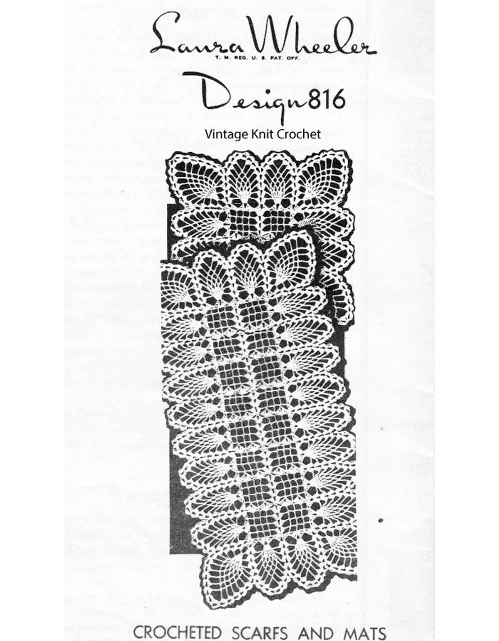 Pineapple Crocheted Buffet Set Pattern, Laura Wheeler 816