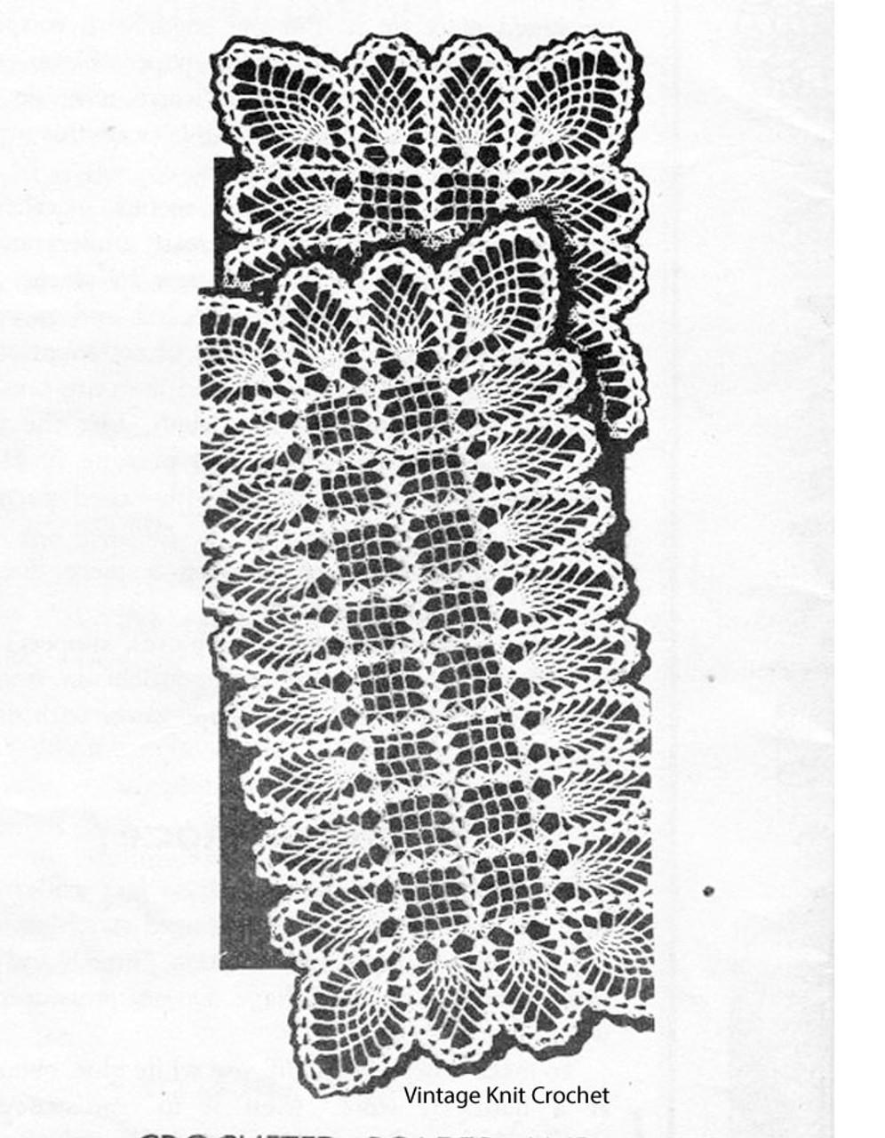 Long Pineapple Runner Crochet Pattern, Mail Order 816