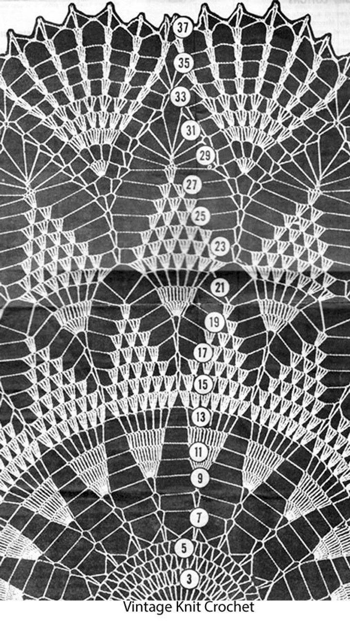 Pineapple Crochet Cloth Illustration,  Laura Wheeler 642