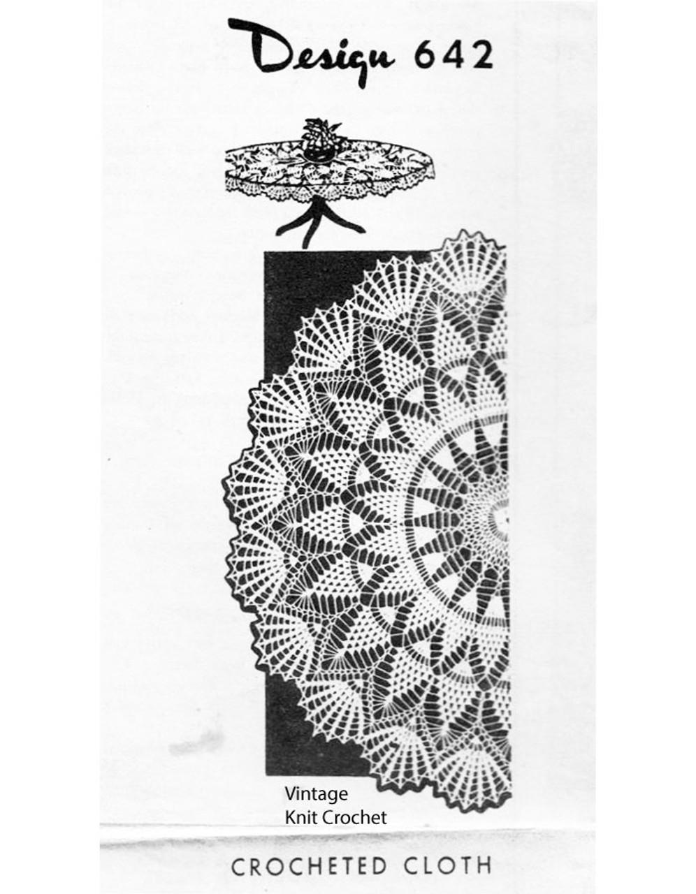 Pineapple Centerpiece Doily pattern, Design 642