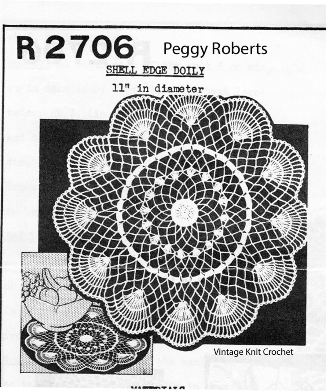 Crochet Shell Border Doily pattern R-2706