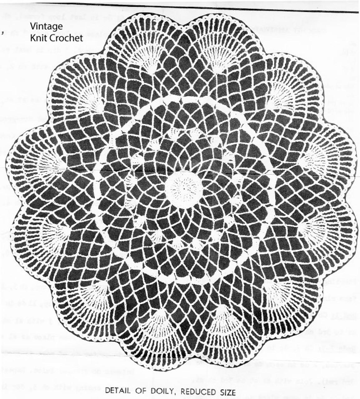 Peggy Roberts Crochet Shell Doily Pattern