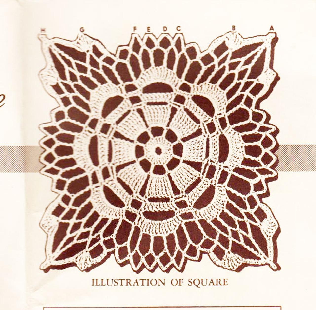 Free Crochet Square Pattern Illustration
