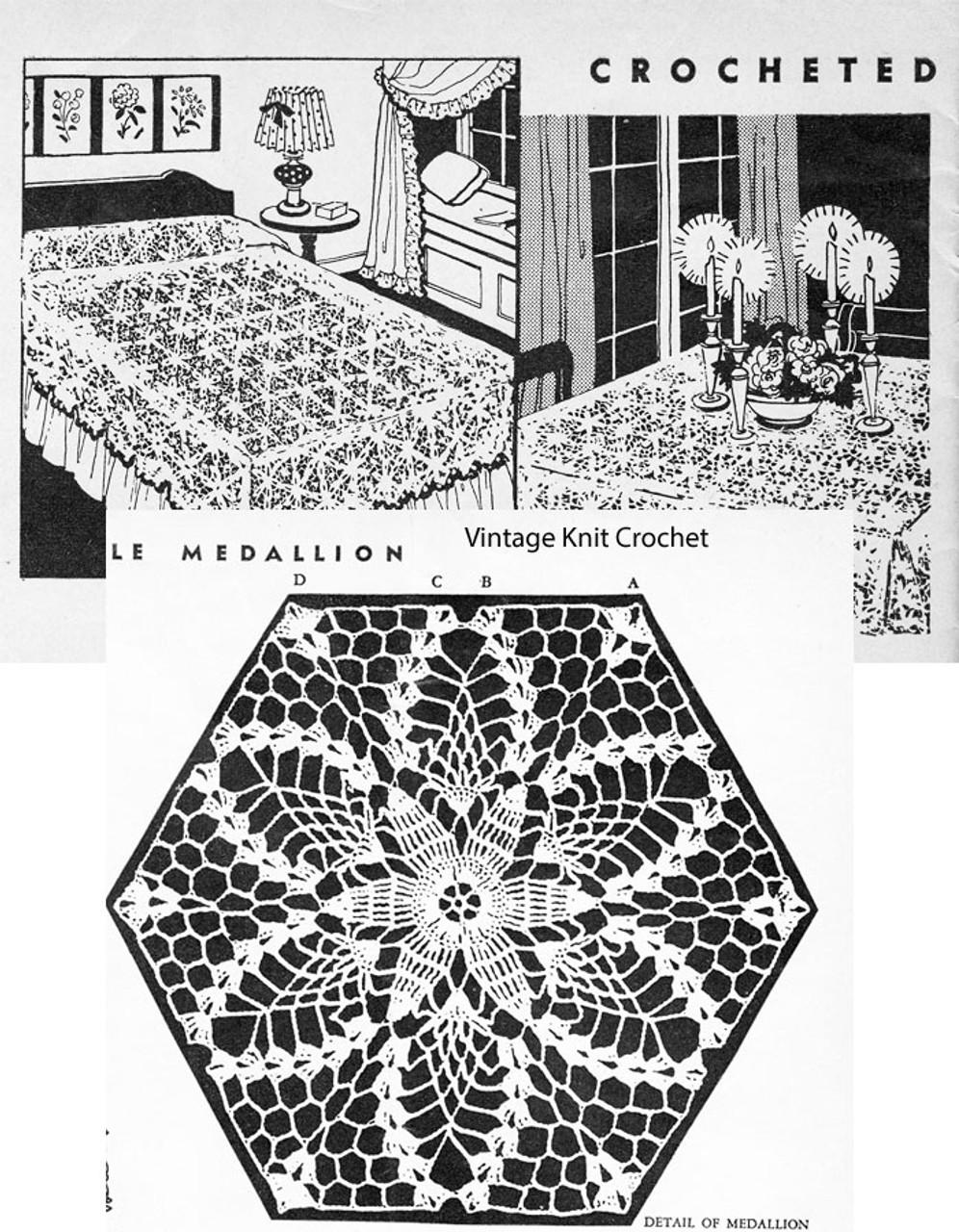 Free Crochet Medallion Pattern, Pineapple Hexagon, Laura Wheeler