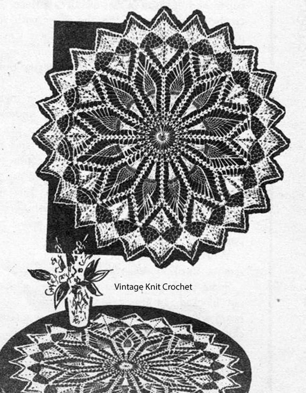 Laura Wheeler Crochet Centerpiece Doily Pattern Design 795