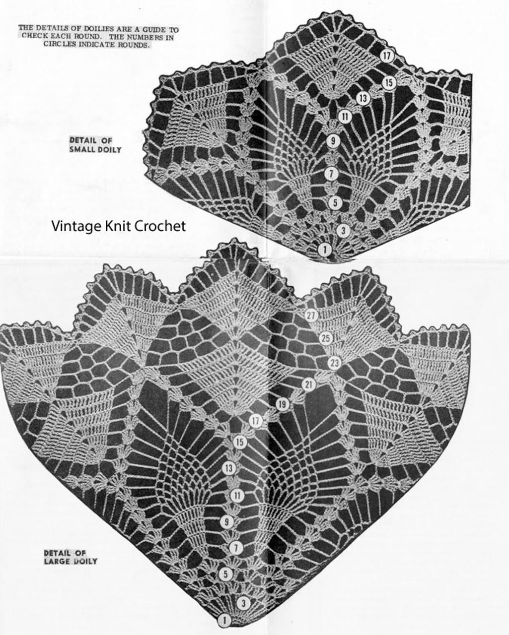 Large Small Crochet Star Doilies Pattern, Design 795