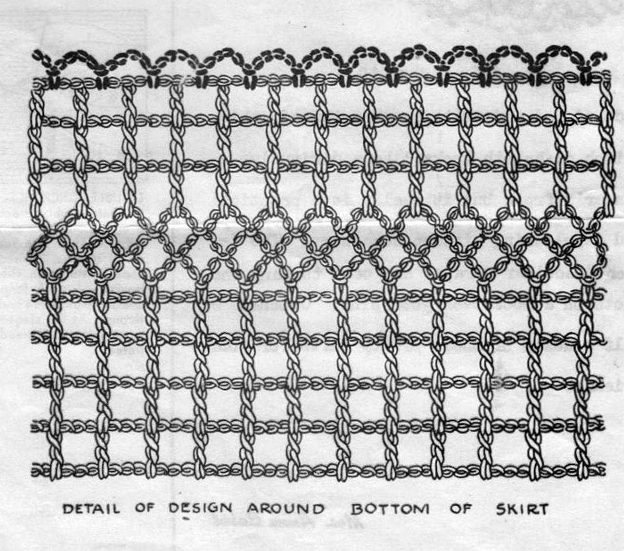 Crochet Dishcloth Pattern Illustration, Anne Cabot 5809