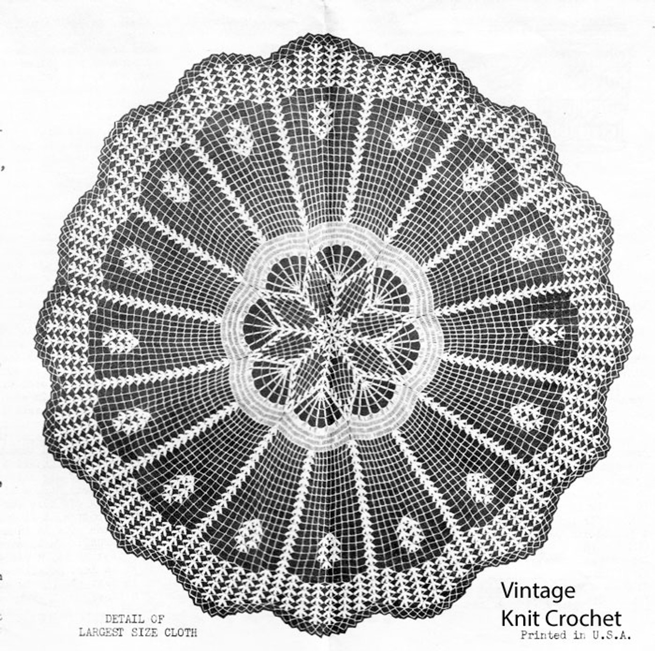 Vintage Crochet Cloth Pattern Illustration, Laura Wheeler 2312