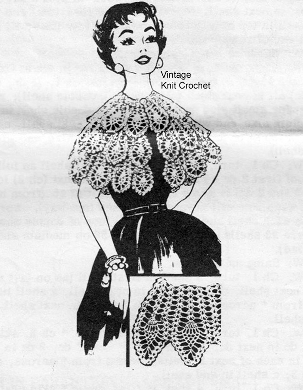 Mail Order Pineapple Crochet Cape Pattern No 7338
