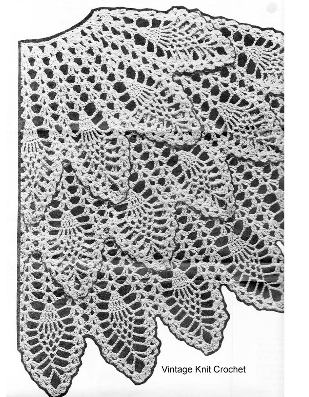 Crochet Pineapple Cape Pattern illustration, Mail Order 7338