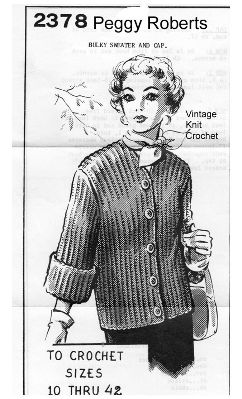 Plus Size Jacket Crochet Pattern No 2378