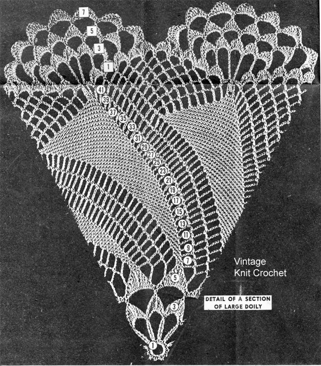 large pinwheel doily illustration design 7497