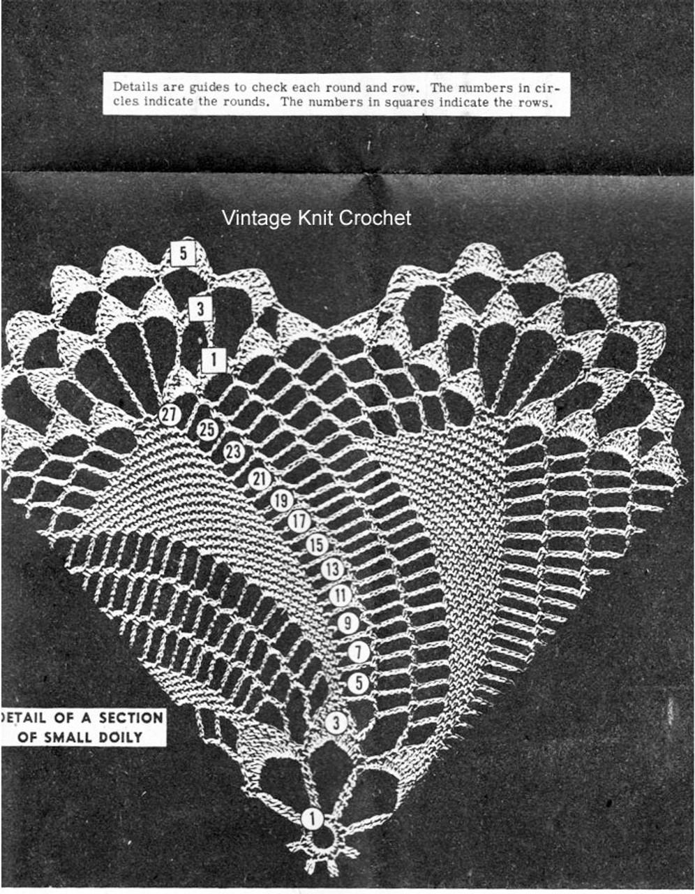 small pinwheel doily illustration design 7497