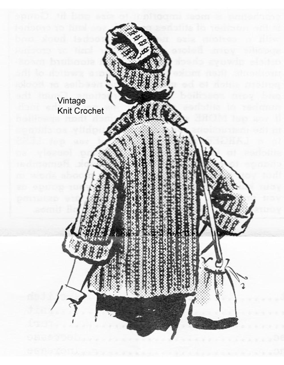 Easy Jumbo Knit Jacket Pattern No 5599