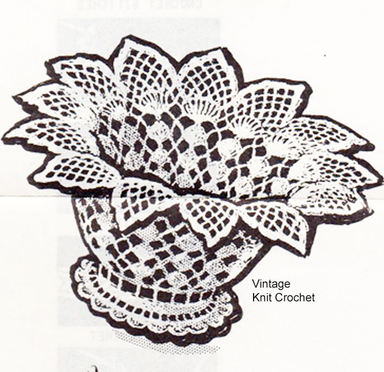 Anne Cabot Pineapple Basket Crochet Pattern No 5941