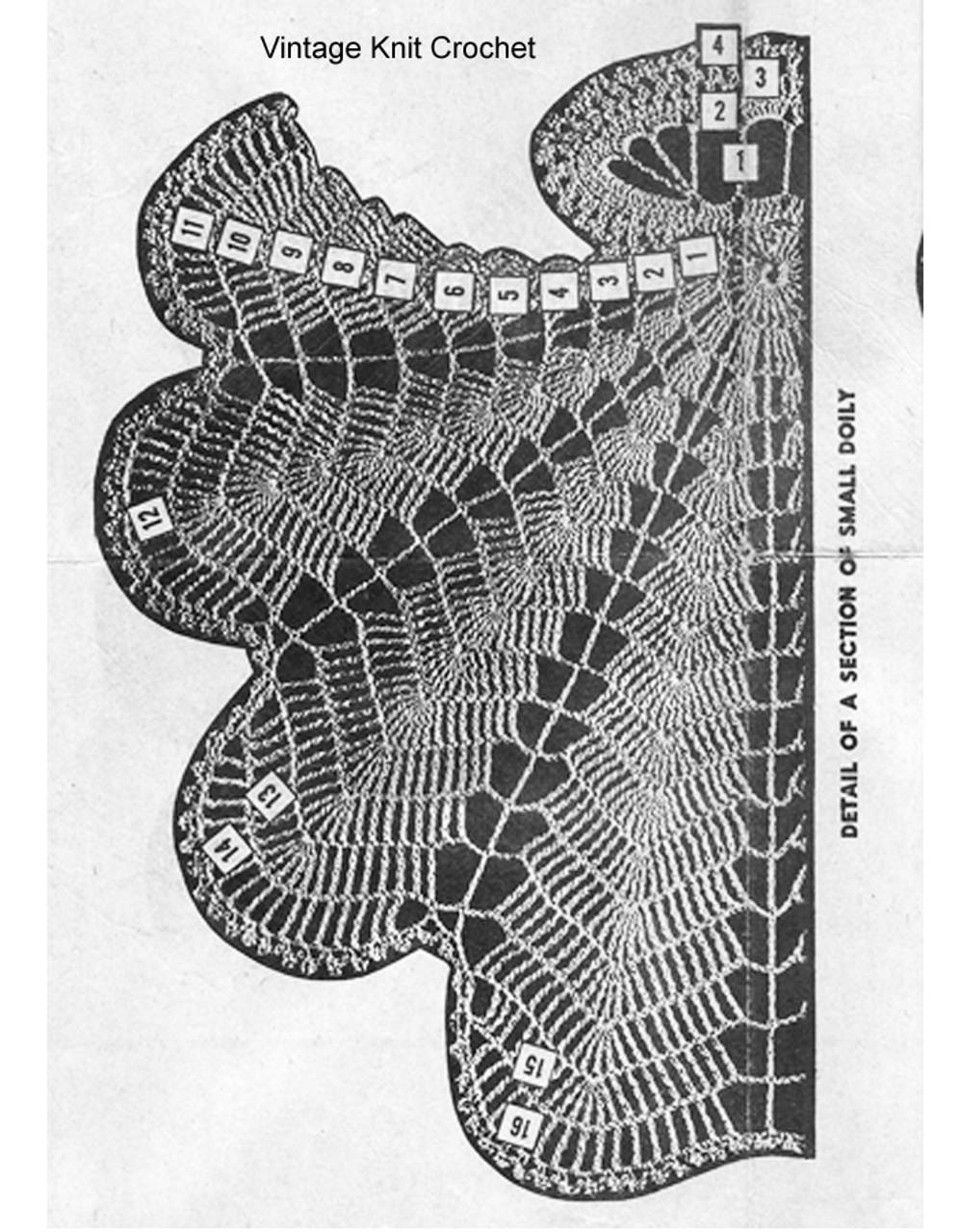 Crochet Doily Pattern Stitch Illustration