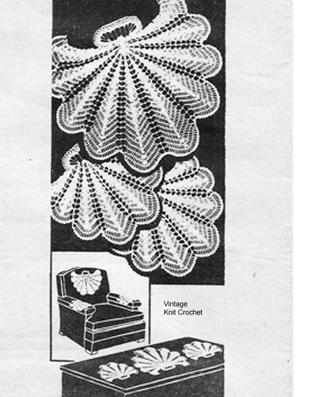 Crochet Shell Chair Set Pattern Alice Brooks 7224