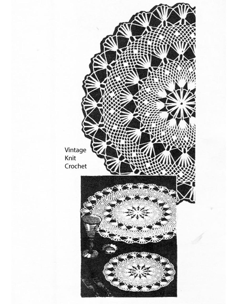 Alice Brooks Crochet Doily Pattern, Large Small, Design 7007