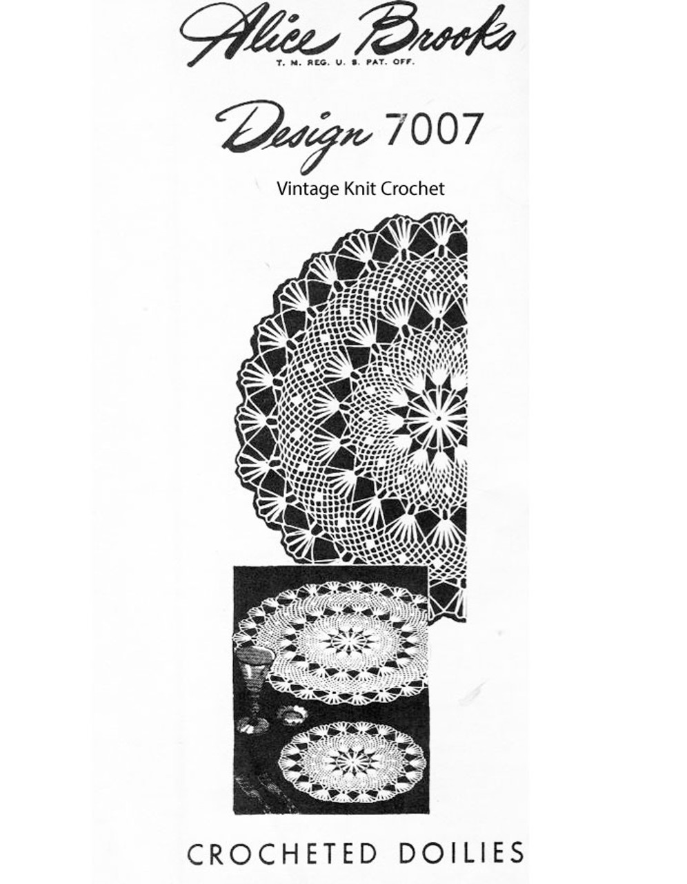 Crochet Chain Loop Doily pattern Design 7007