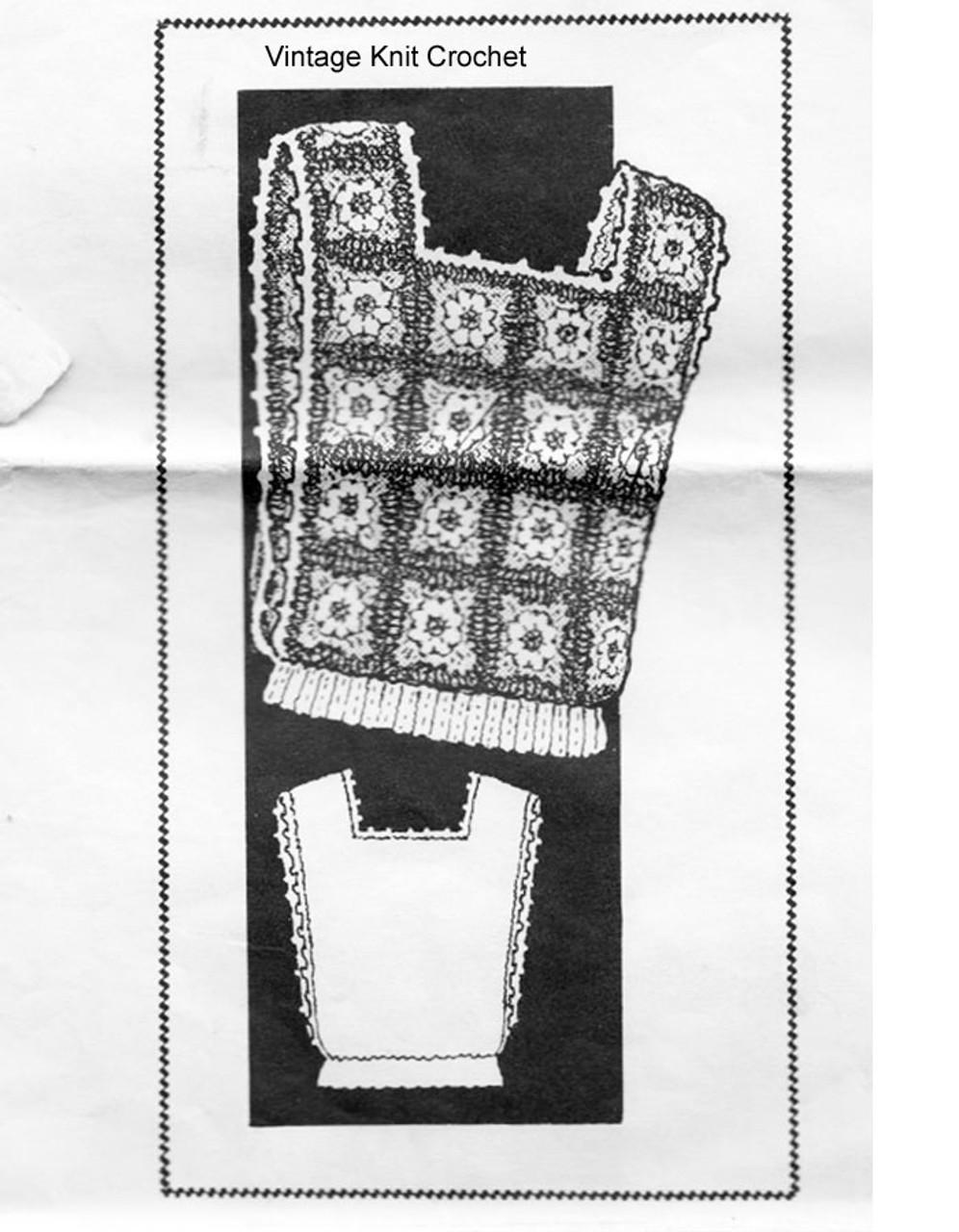Laura Wheeler 790 Crochet Tabbard Pattern in Granny Squares