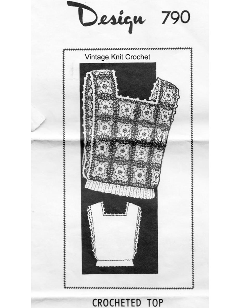 Granny Square Crochet Top Pattern Design 790